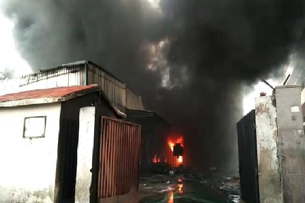 chemical factory engulfed in fire machinery and finished goods worth lakhs