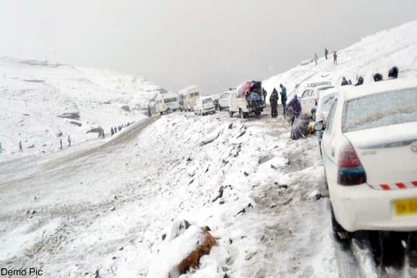 rain and snowfall in himachal