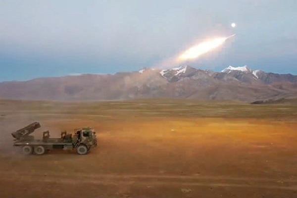 china exercises landmines through rockets at high altitude