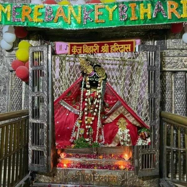 the doors of the shri bankey bihari temple closed again