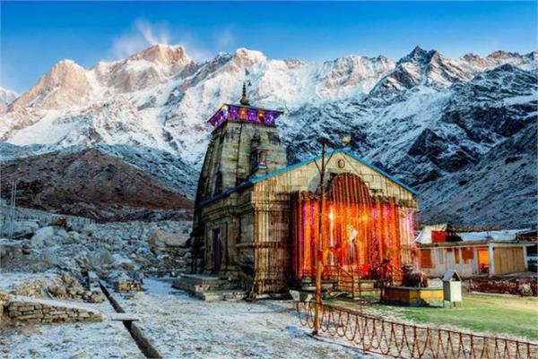 first snowfall in kedarnath