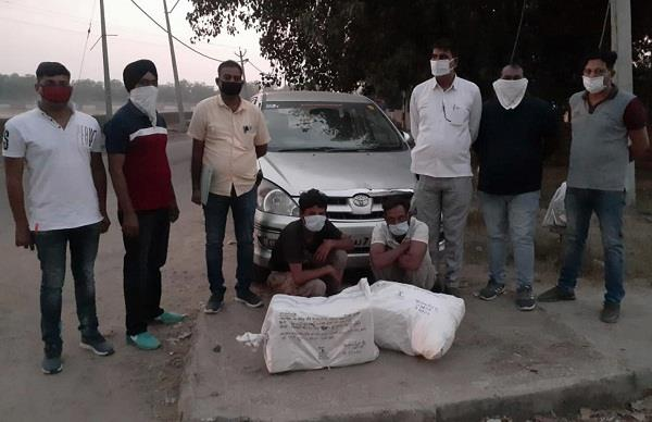 2 youth arrested with 50 kg of hemp