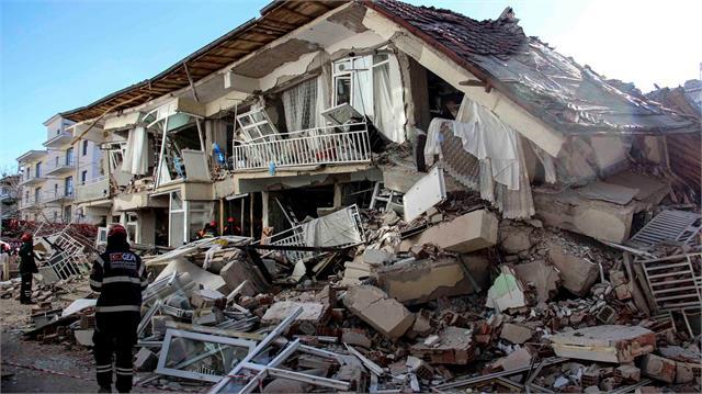22 dead buildings collapse as major earthquake hits turkey