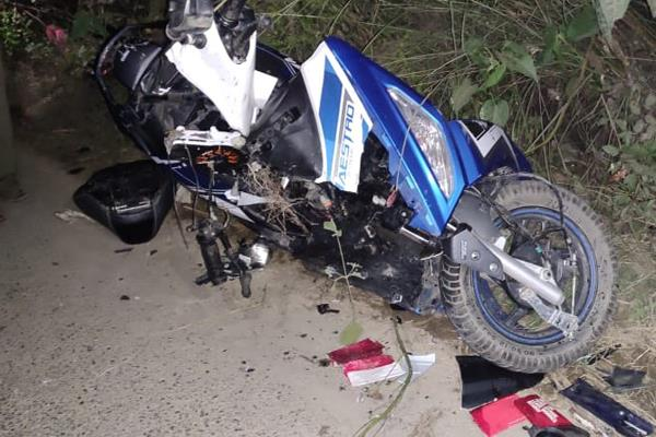 boy died in accident in vijaypur