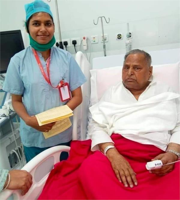 sp patron mulayam singh yadav improved in health
