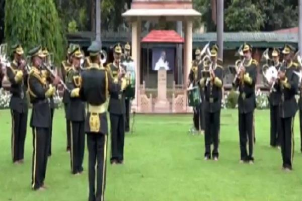 itbp band plays raghupati raghav raja ram