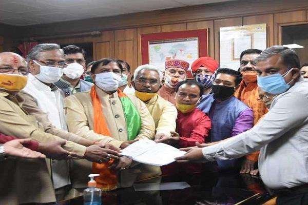 naresh bansal filed nomination for rajya sabha