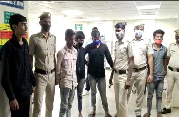five accused in the murder of a young man held on dussehra
