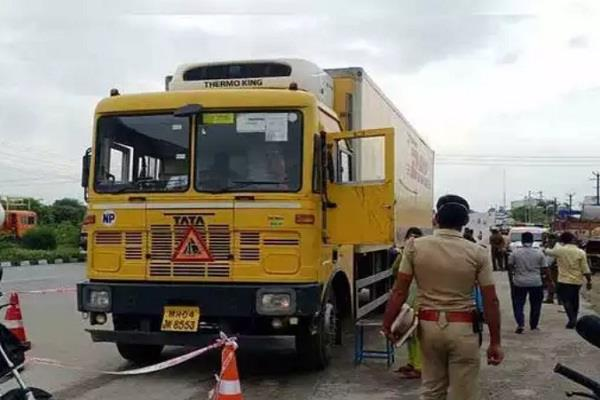 tamil nadu krishnagiri mobile container truck driver police