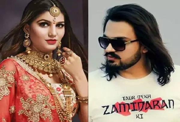 case filed against sapna chaudhary s husband veer sahu