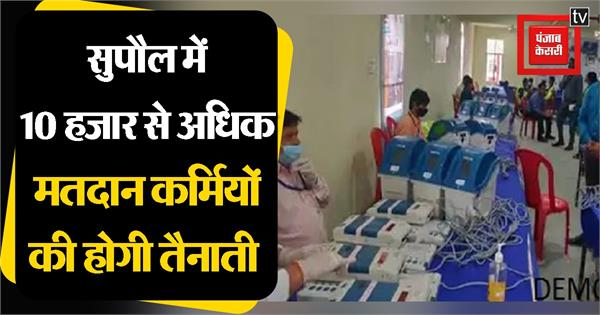 10 thousand polling personnel will be deployed in supaul