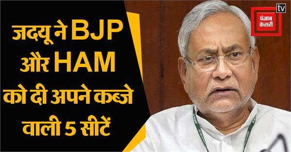 jdu accorded 4 seats to bjp and 1 seat to ham