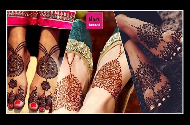 KarwaChauth Special: सिंपल से लेकर हैवी ,पैरों के लिए यहां से लीजिए बेस्ट मेहंदी डिजाइन्स