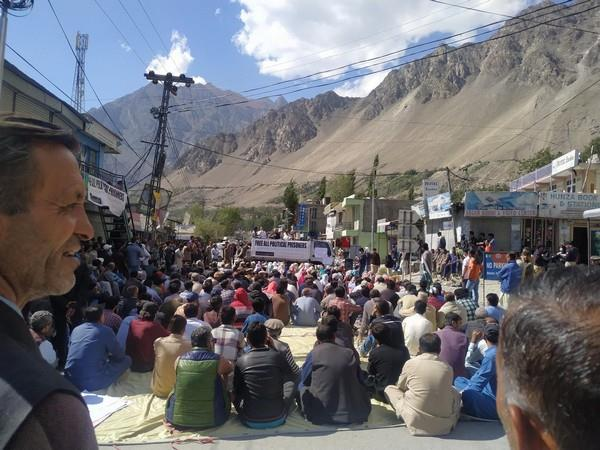 massive protests across occupied gilgit baltistan against imran