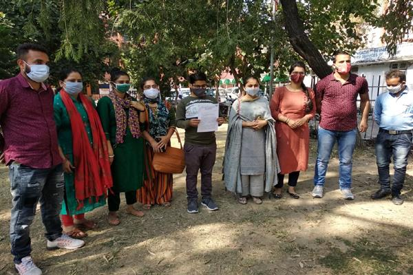 national youth volunteers demand for regularisation in kathua