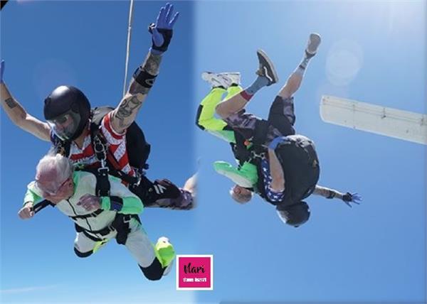 Wow! 103 साल के बुजुर्ग ने 14,000 फीट की ऊंचाई से लगाई छलांग, दिल छू लेगी वजह