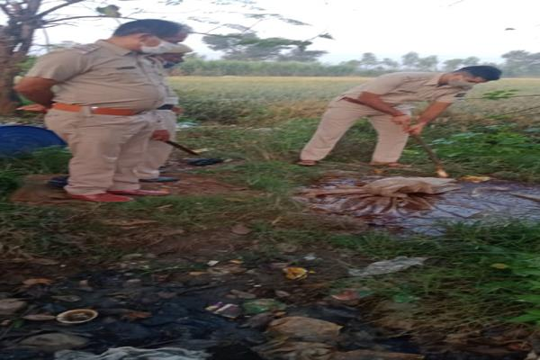police raid in mand area millions of ml of liquor destroyed