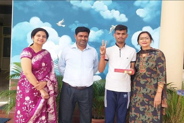 vishal a student of new happy public school made a record