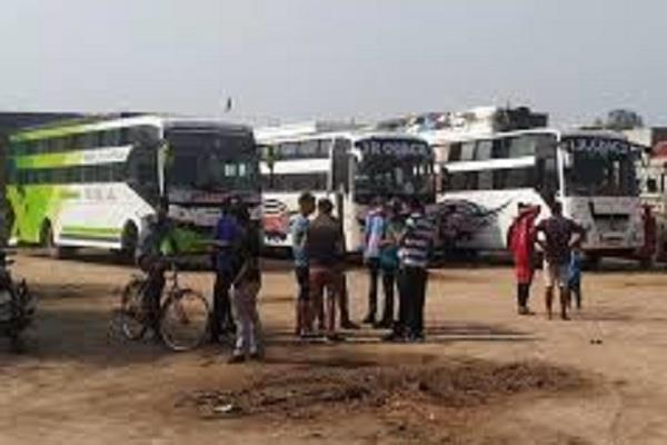 transport minister catches 25 buses going to delhi jaipur and punjab