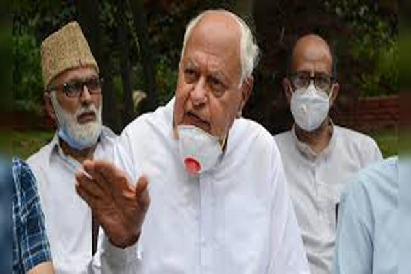 peace economic progress not possible in jk without return of decisions farooq