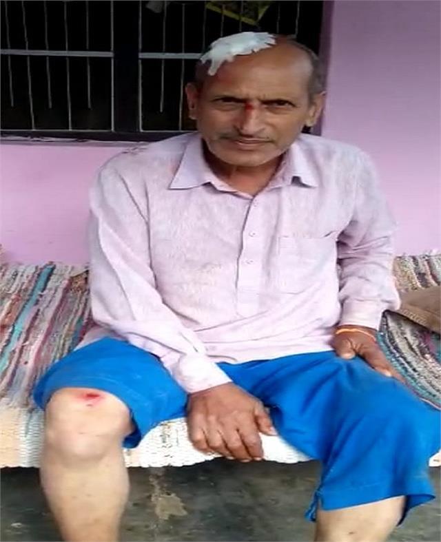 in rwadi village of banakhandi a destitute bull bled a person