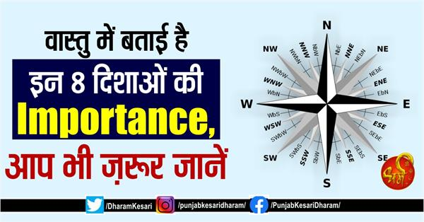 importance of these 8 directions is told in vastu