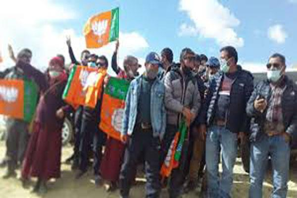 bjp wins ladakh lahdc election 15 seats out of 26