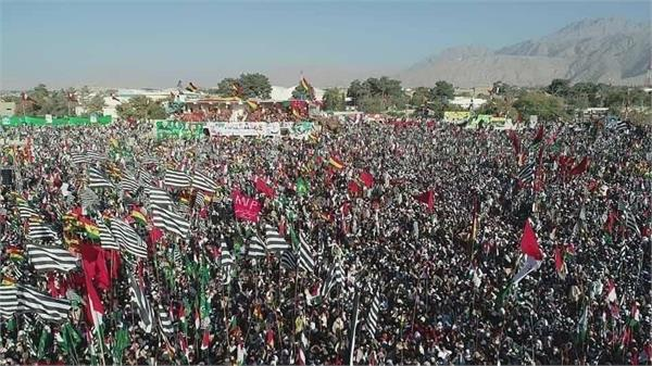 pak opposition parties hold massive anti govt rally despite security threats