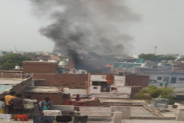 illegal firecracker warehouse explosion fire in nearby houses