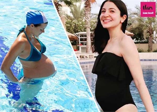 प्रेगनेंसी में अनुष्का शर्मा ने की स्विमिंग, जानिए गर्भावस्था में तैराकी के फायदे- नुकसान