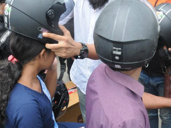 now 5 year old children will wear helmet on two wheeler