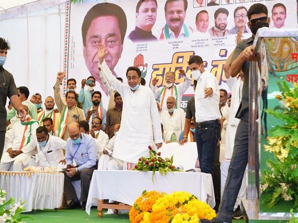 for the first time kamal nath rained on the scindia dynasty