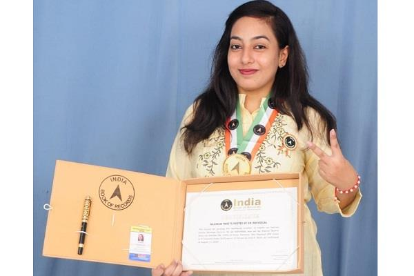 simran kamra s name registered in india book of records for most tweets