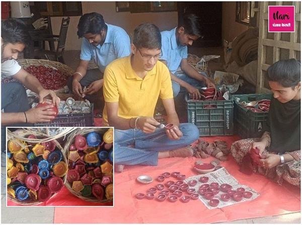 दीप से सहयोग तक... चंडीगढ़ युवाओं की अनोखी पहन, पुराने दीयों को कर रहें रिसाइकल