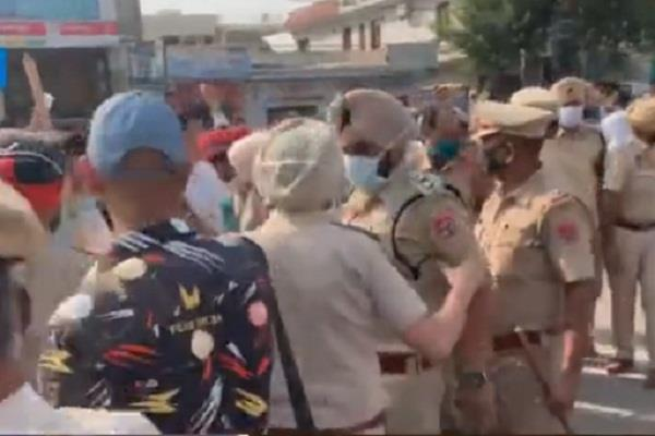 clash between bjp and farmers