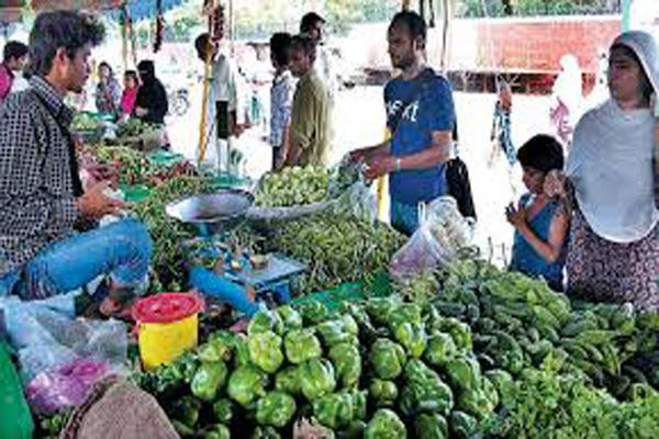 first organic food market started in kashmir