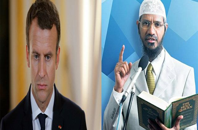 zakir naik hate statement against french president