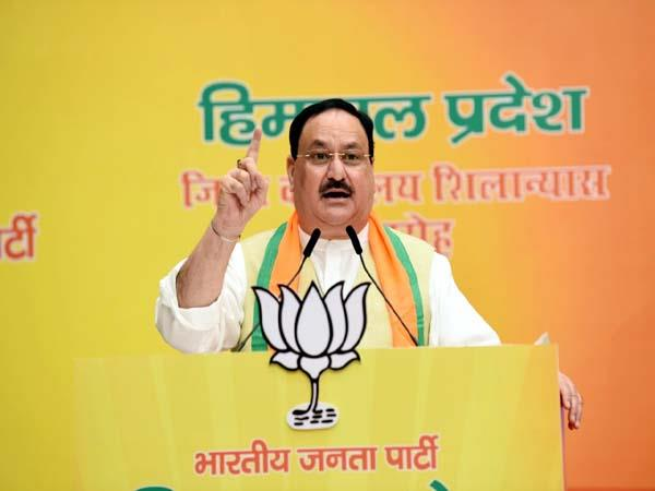 jp nadda laid foundation stone of bjp offices