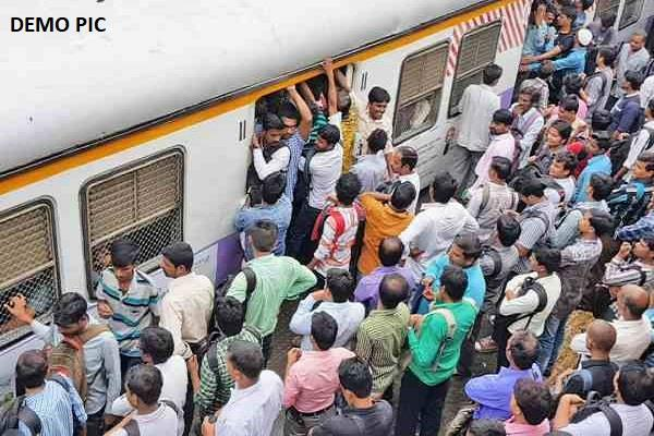 bhagalpur youth dies after falling from overcrowded train