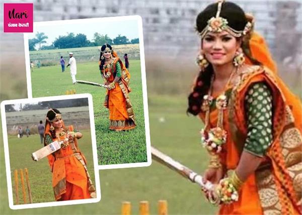 हाथ में बल्ला थाम बांग्लादेश महिला क्रिकेटर ने करवाया वेडिंग फोटोशूट, तस्वीरें हुईं वायरल