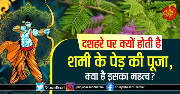why is the shami tree worshiped on dussehra