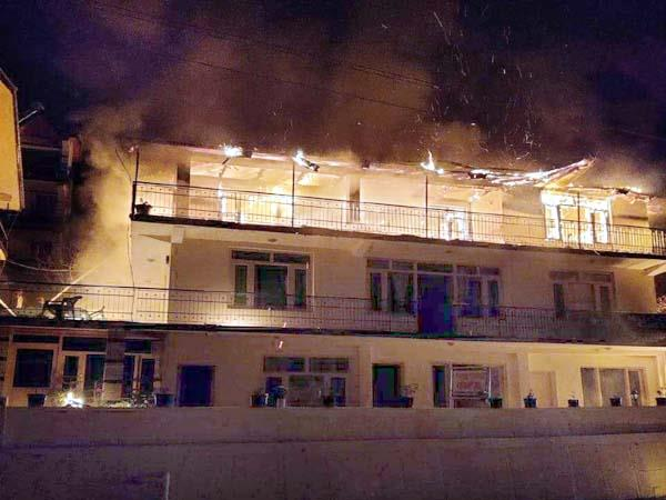 fire in house death of person due to heart attack