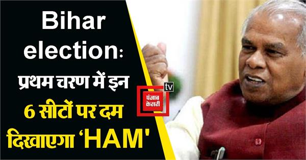 ham will show power in six seats in the first phase