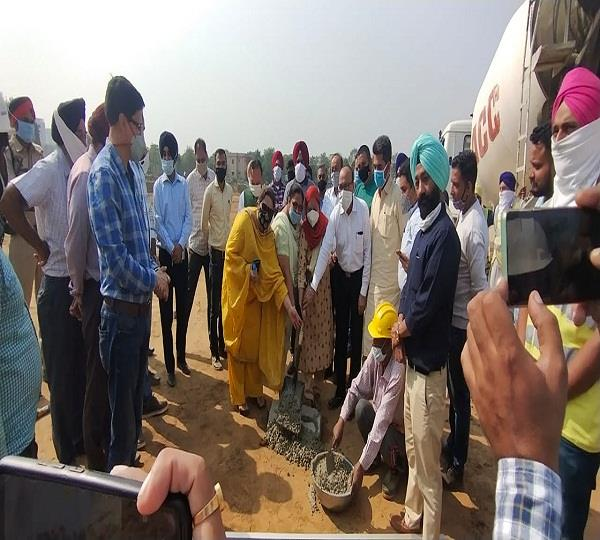 mp santokh chaudhary started the work of foldiwal stp