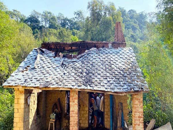 fire in bangana