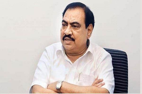 eknath khadse disgruntled with bjp held ncp hand