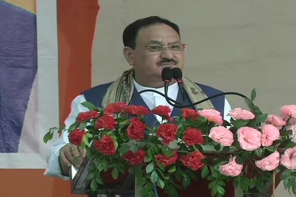 statement of jp nadda in rally