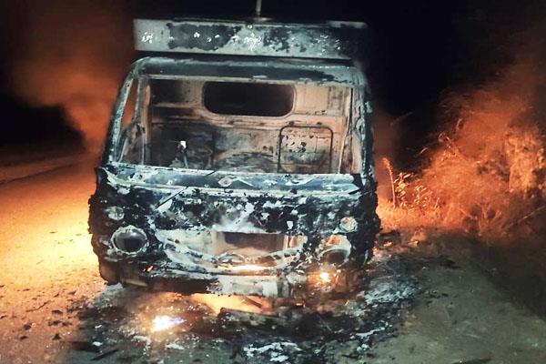 gohar four wheeler fire