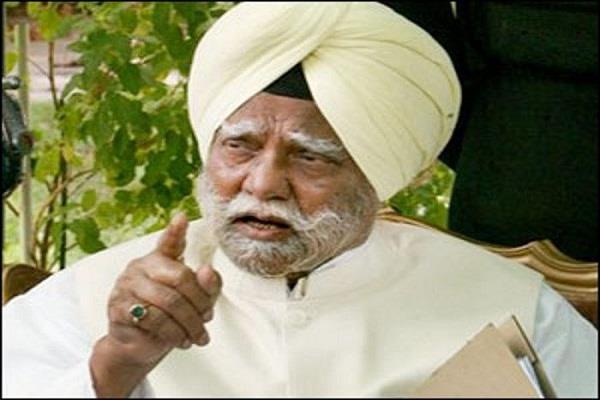 senior congress leader sardar buta singh in critical condition