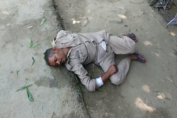 khaki again embarrassed drunk policeman found in front of police line